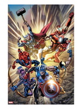 Avengers: Age of Ultron No.0.1 Cover: Captain America, Wolverine, Hawkeye, Spider-Man and Others