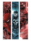 The Punisher No.10 Cover: Spider-Man, Punsiher, and Daredevil