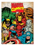 Marvel Comics Retro: Hulk, Thor, Spider-Man, Wolverine, Captain America, Iron Man and Silver Surfer
