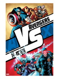 AVX No.1 Cover: Cyclops, Storm, Magneto, Colossus, Emma Frost, Captain America and Others