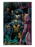 Shadowland No.4: Wolverine, Luke Cage, Punisher, Iron Fist, and Spider-Man Standing