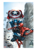 Avenging Spider-Man No.5 Cover: Spider-Man and Captain America
