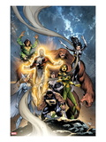 Alpha Flight No.6 Cover: Puck, Snowbird, Northstar, Aurora, Guardian, Sasquatch, Shaman and Marina