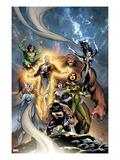 Alpha Flight No.6 Cover: Puck, Snowbird, Northstar, Aurora, Guardian, Sasquatch, Shaman and Marina