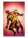 Shadowland: Power Man No.2 Cover: Power Man and Luke Cage Fighting