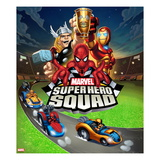 Marvel Super Hero Squad: Thor, Spider-Man, Iron Man, Thing, and Wolverine Riding