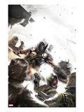 Taskmaster No.2 Cover: Task Master Fighting