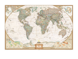 Spanish Executive World Map Art Print