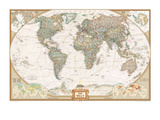 German Executive World Map Art Print