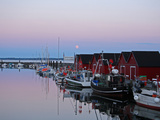 Fishing Port Boltenhagen Tarnewitz Baltic Sea at Sunset on Full Moon