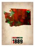 Buy Washington Watercolor Map at AllPosters.com
