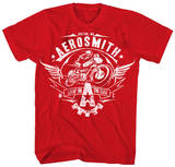 Aerosmith - Livin' On The Edge Aerosmith- Distressed White Wings Aerosmith, Property of. Est. 1970 Boston, MA Aerosmith - Let The Music Jukebox Aerosmith- Walk This Way aerosmith