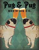 Pug and Pug Brewing Art Print