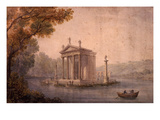 Small Temple of Asclepius, Villa Borghese, Rome, Late 18th Century Watercolour