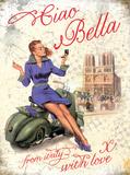 Vespa Ciao Bella Tin Sign