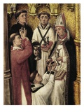 Future Religious or Novices Receiving Communion and Unction, from Redemption Triptych (Detail)