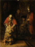 Return of the Prodigal Son, c. 1669 Art Print