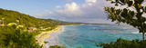 Elevated View over Long Bay at Sunrise, Portland Parish, Jamaica, Caribbean