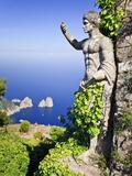 Italy, Campania, Napoli District, Anacapri, Solaro Mount, the Statue of Emperor Augustus, View from