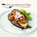 Grilled Aubergines with Courgettes and Tomatoes