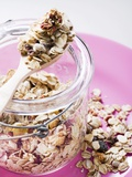 Muesli with Dried Fruit in Preserving Jar