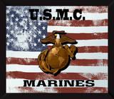 US Marine Corps Flag USMC Mirror Sign