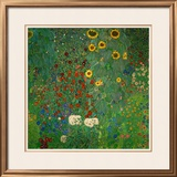 Farm Garden with Sunflowers, c.1912 Framed Art Print
