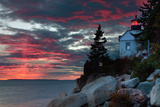 Sunset at Bass Harbor Fotografie-Druck