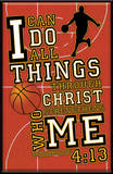 I Can Do All Things (Basketball) Plaque