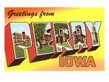 Greetings from Perry, Iowa