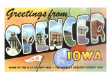 Greetings from Spencer, Iowa