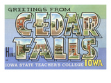 Greetings from Cedar Falls, Iowa