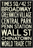 New York City Subway Style Vintage RetroMetro Travel Poster Poster