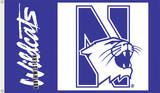 NCAA Northwestern Wildcats Flag with Grommets