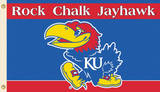 NCAA Kansas Jayhawks Flag with Grommets