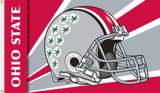 NCAA Ohio State Buckeyes Helmet Flag with Grommets