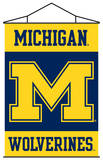 NCAA Michigan Wolverines Indoor Banner Scroll