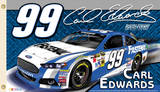 Nascar Carl Edwards #99 2-Sided Flag with Grommets