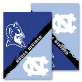 NCAA N. Carolina - Duke 2-Sided House Divided Rivalry Garden Flag