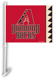MLB Arizona Diamondbacks Car Flag with Wall Bracket