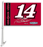 Nascar Tony Stewart #14 Car Flag with Wall Bracket