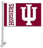 NCAA Indiana Hoosiers Car Flag with Wall Bracket