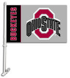 NCAA Ohio State Buckeyes Car Flag with Wall Bracket