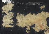 Game of Thrones Map of Westeros & Essos Huge TV Poster