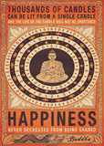 Thousands of Candles Buddha Huge Motivational Poster Giant Poster