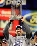 Andy Pettitte with the World Series Trophy Game Six of the 2009 MLB World Series (#35)
