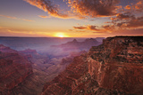 Cape Royal Viewpoint at Sunset, North Rim, Grand Canyon Nat'l Park, UNESCO Site, Arizona, USA Photographic Print