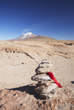 Stack of Prayer Stones on Altiplano, Potosi Department, Bolivia, South America