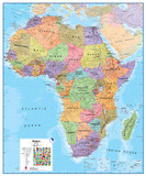 Africa 1:8 Wall Map, Educational Poster Giant Poster