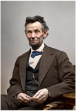 Abraham Lincoln Color Archival Photo Poster
